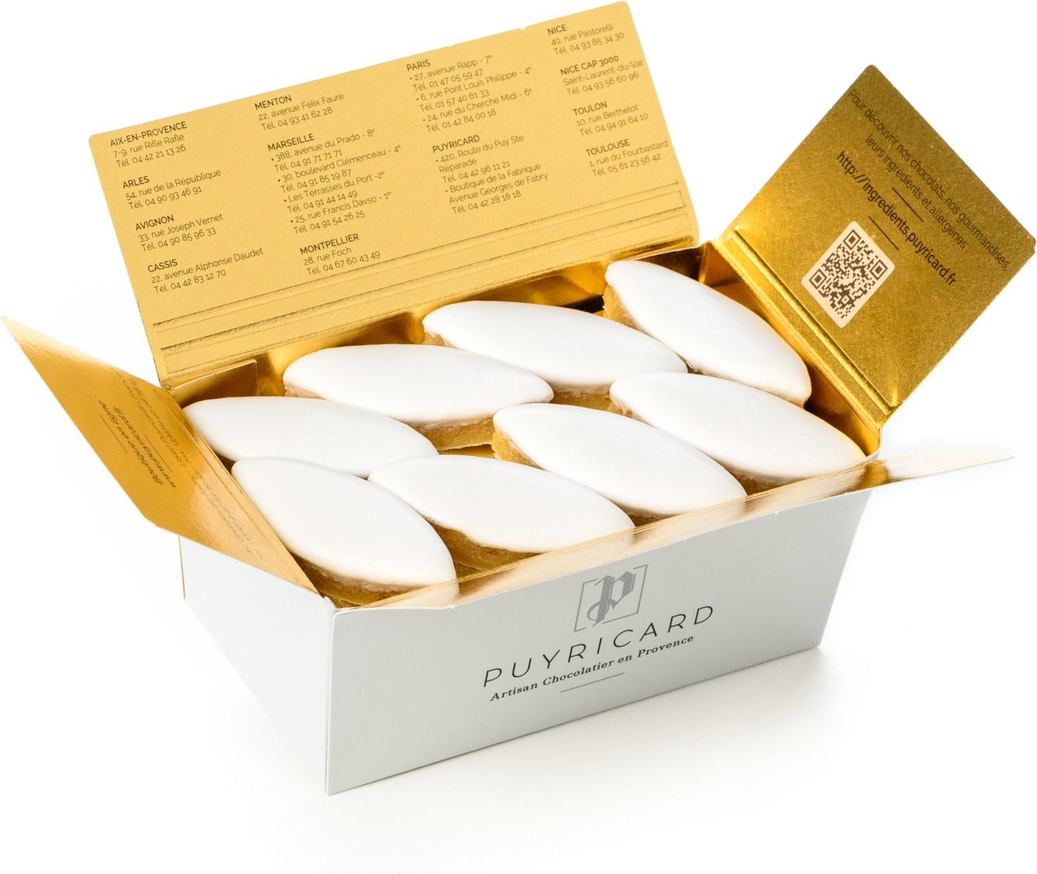 BALLOTIN BOX OF AMANDAS AND AVELINAS IN PRALINE AND ICING SUGAR 750 G