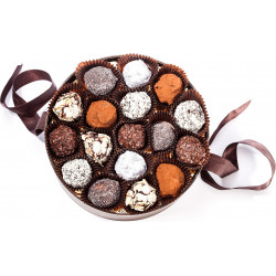 HAT BOX OF CHOCOLATE TRUFFLES 280 G