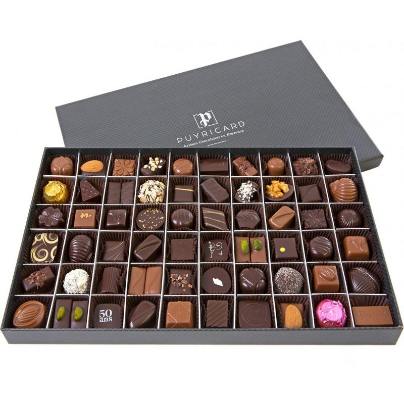Boîte Rectangulaire 610g de chocolats