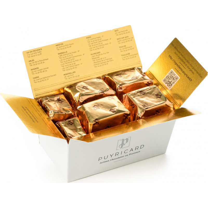 BALLOTIN BOX OF CANDIED CHESTNUTS 250G