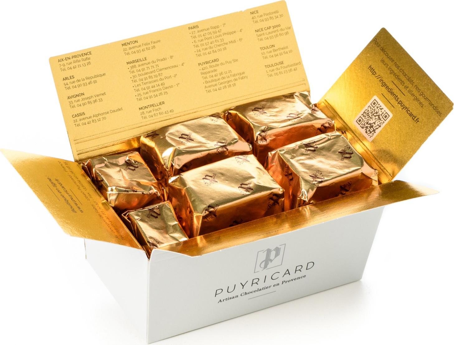 Boîte Chapeau de 280g de truffes en chocolat