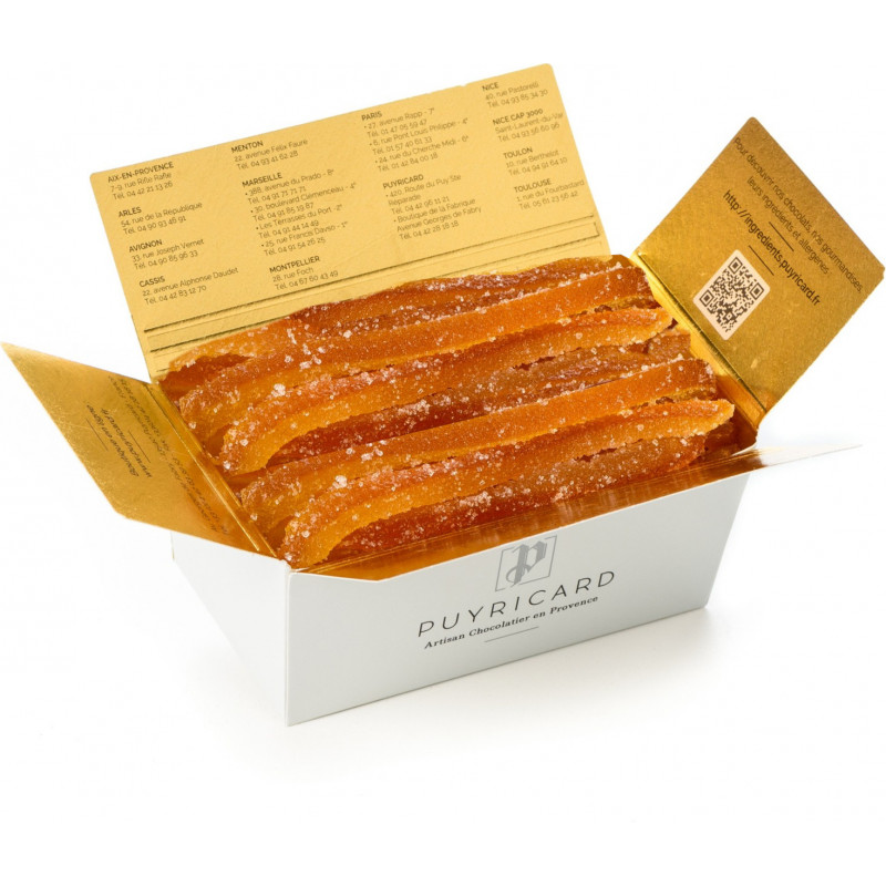 BALLOTIN BOX OF CANDIED ORANGE AND LEMON 250 G