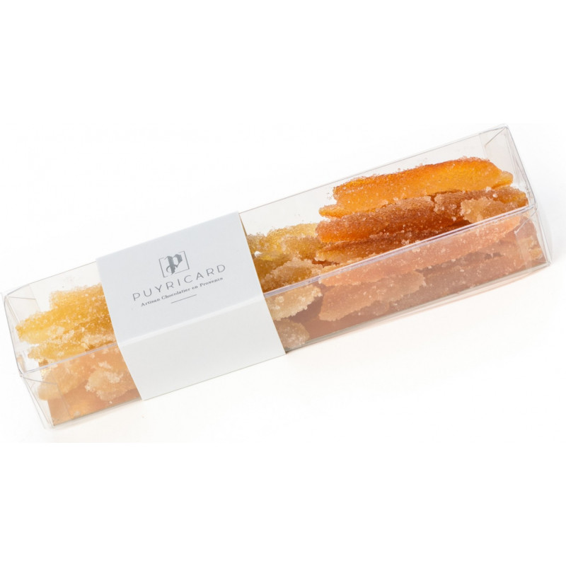 SLIMLINE BOX OF CANDIED ORANGE AND LEMON 150 G