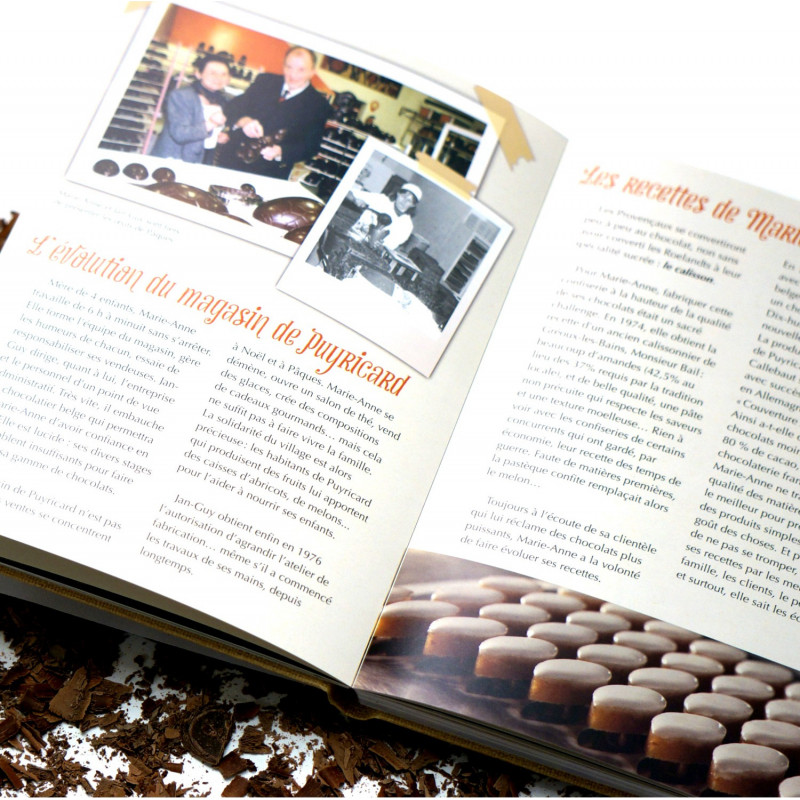 """Le vrai chocolat"" Fiftieth anniversary Book of the Chocolaterie de Puyricard"