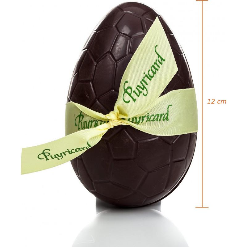 Oeuf de Pâques chocolat écailles garni 12cm