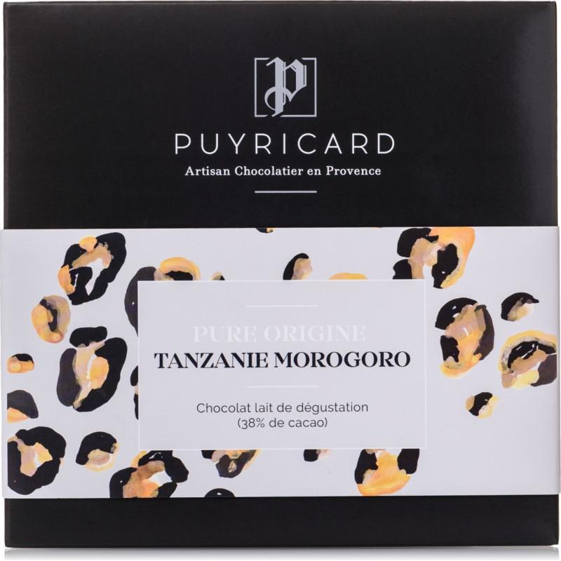 Tablette de Chocolat Lait Pure Origine Tanzanie 38%