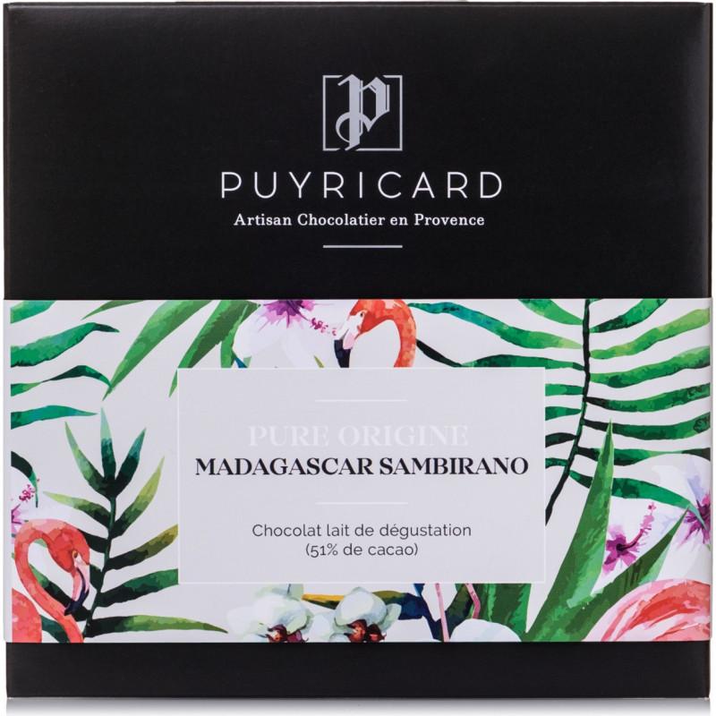 Tablette Chocolat Lait Pure Origine Madagascar Sambirano 51%