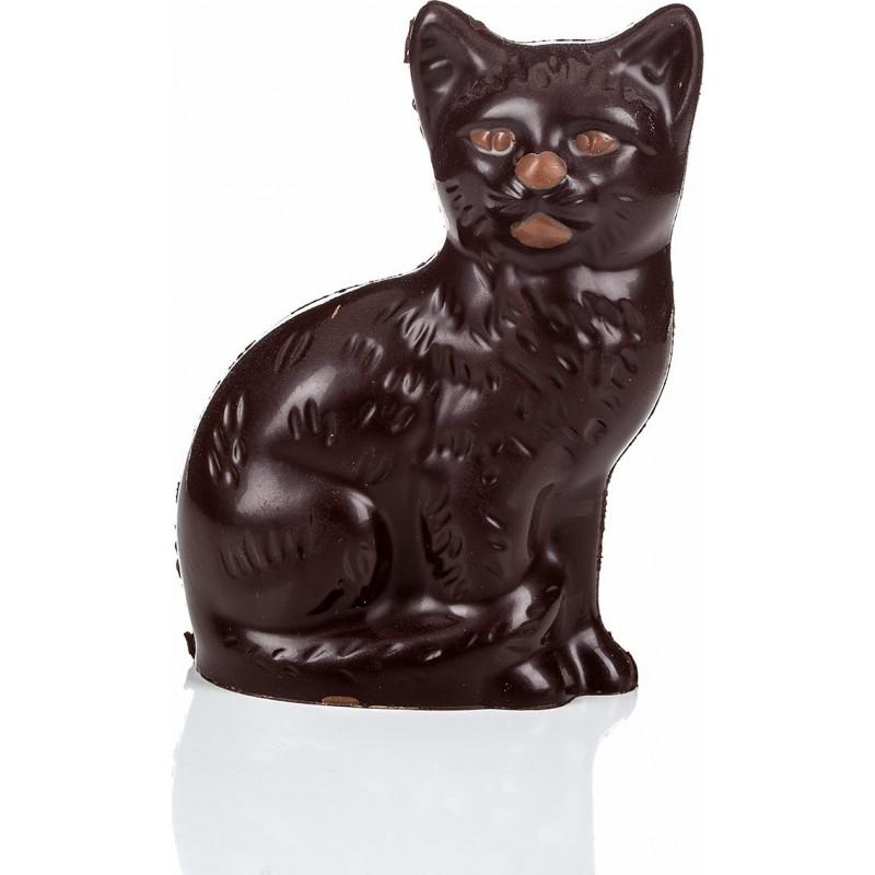 Chat assis en chocolat de Pâques garni 11cm