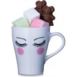 Mug Saint-Valentin garni chocolats ou guimauves