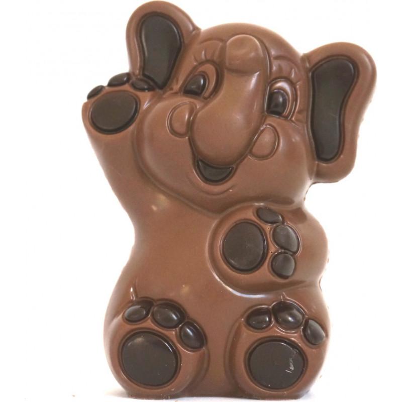 Éléphant Pâques chocolat noir ou lait 13cm