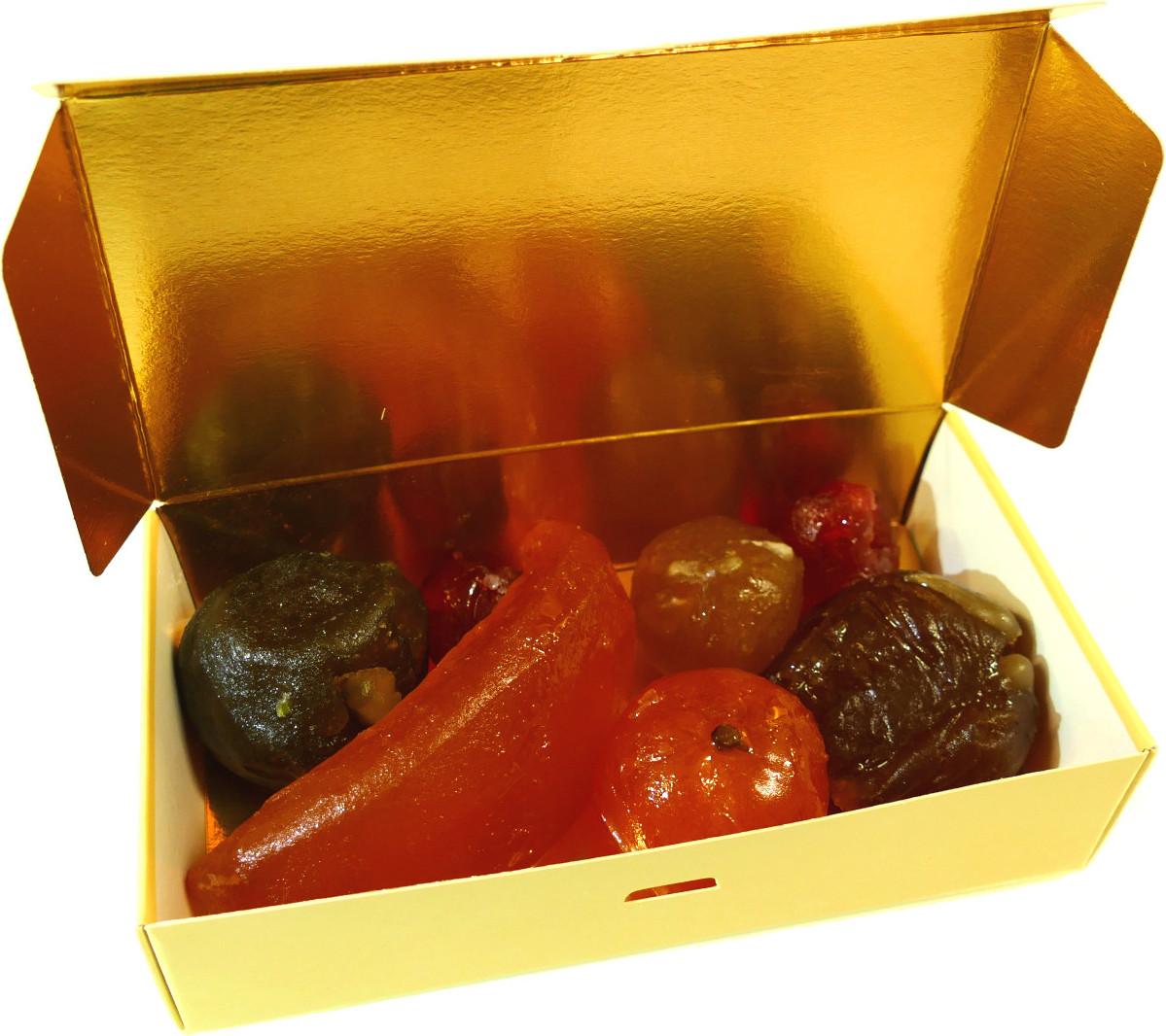 BALLOTIN BOX OF AMANDAS AND AVELINAS IN PRALINE AND ICING SUGAR 375G