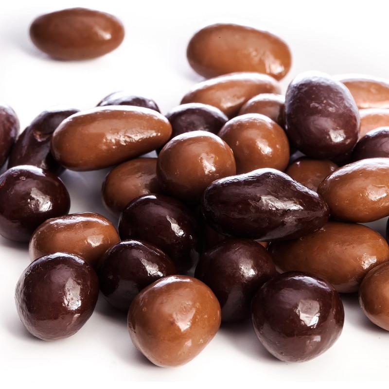 Sachet Amandas Avelinas chocolat noir et lait 200g