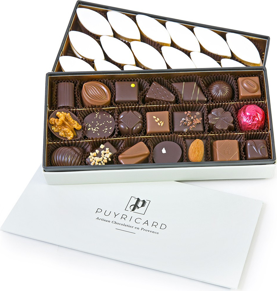 FLUO SQUARE BOX OF CHOCOLATES 450 G