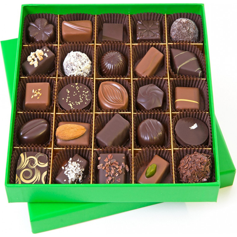 FLUO SQUARE BOX OF CHOCOLATES 300 G