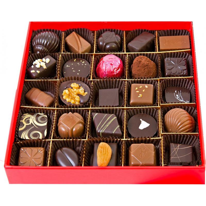 Boîte Rouge Fluo 260g de chocolats