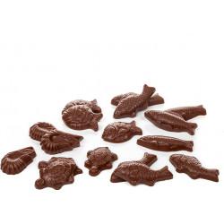 Sitting Chocolate Cat 250g