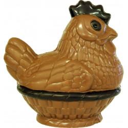 Poule en chocolat de Pâques garnie 20cm
