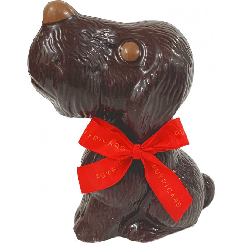 Chien en chocolat de Pâques garni 200g