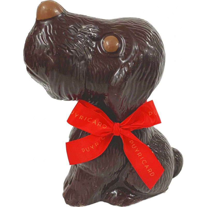 Sitting Chocolate dog 200g