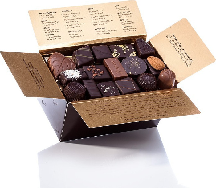 BALLOTIN BOX OF CHOCOLATE-COVERED CANDIED LIME 200 G
