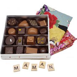 Coffret Furoshiki Chocolats Fête des Mères