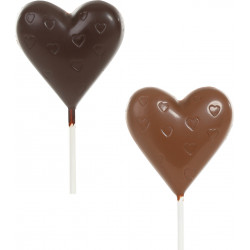 Chocolate heart lollipop 20g