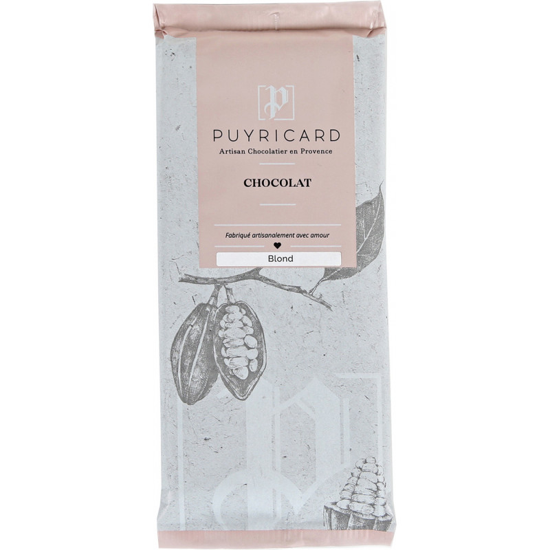 Tablette de chocolat blond