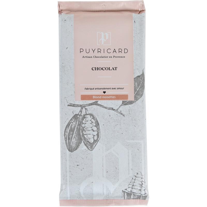 Tablette de chocolat blond aux noisettes