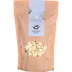 White chocolate in a bag