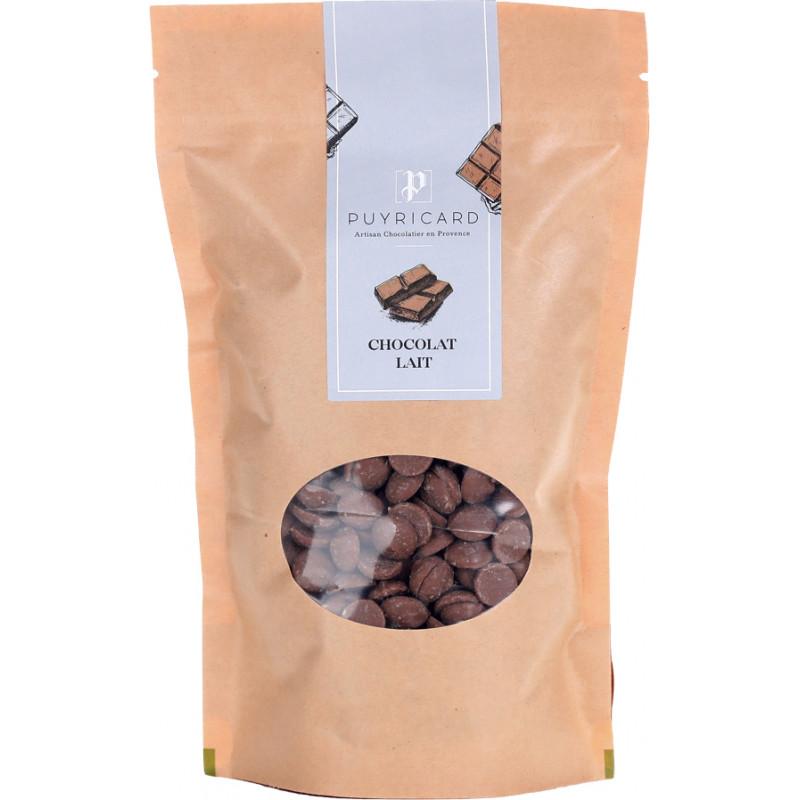 Milk chocolate in bags