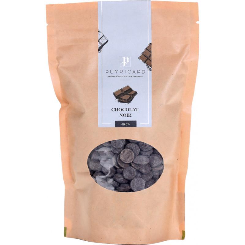 Dark chocolate in bags