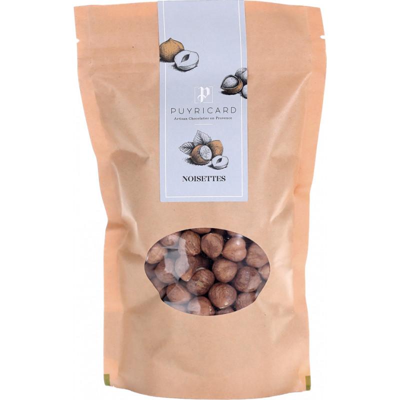 Hazelnuts in bags