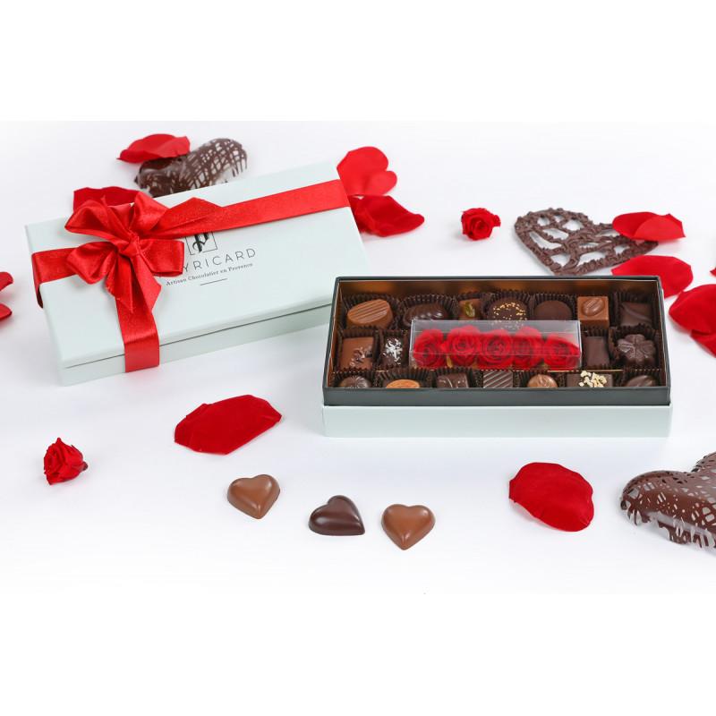 Coffret Rose et Chocolat 155g