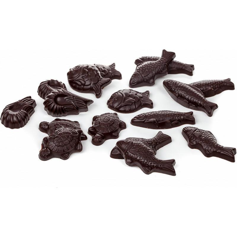 Lapin couché en chocolat garni 11cm