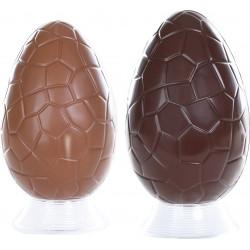 oeuf écaille 12 cm chocolat
