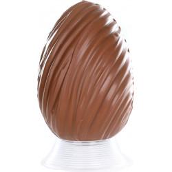 Oeuf Déco chocolat de Pâques garni 13cm