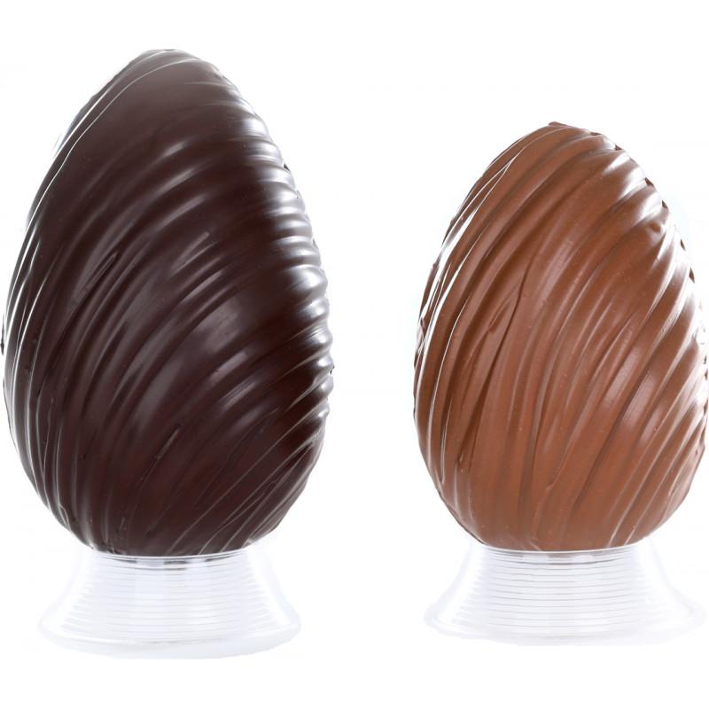Oeuf Déco garni en chocolat de Pâques 20cm