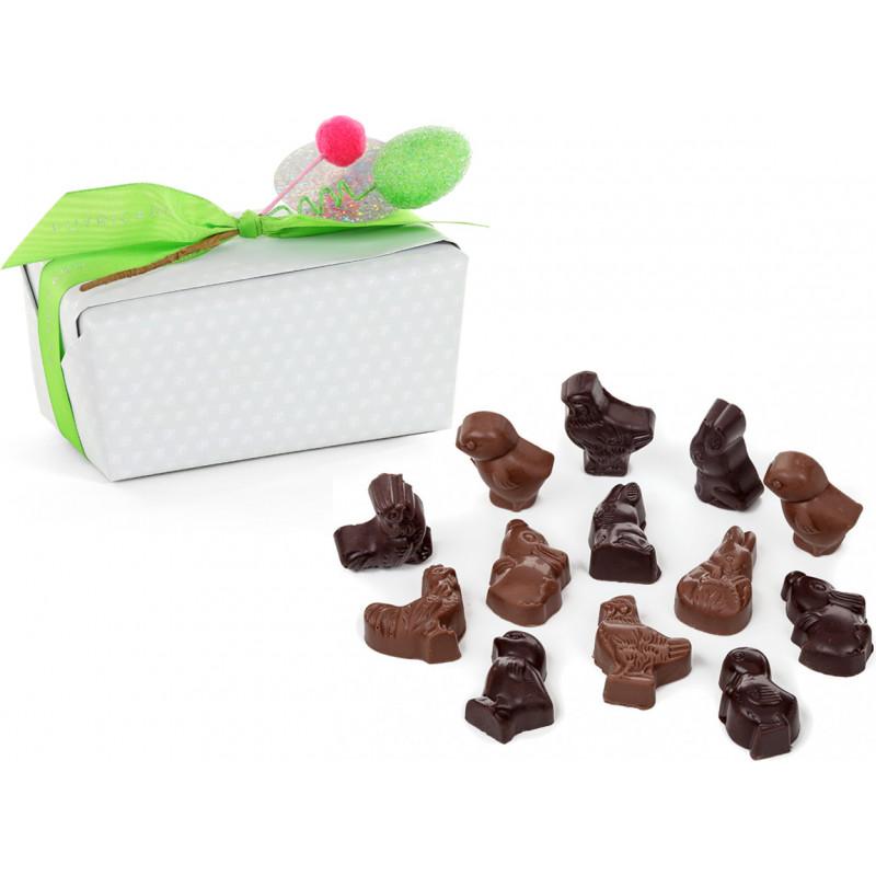 Ballotin sujets pralinés de Pâques en chocolat 500g