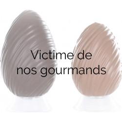 Oeuf Déco garni en chocolat de Pâques 24cm