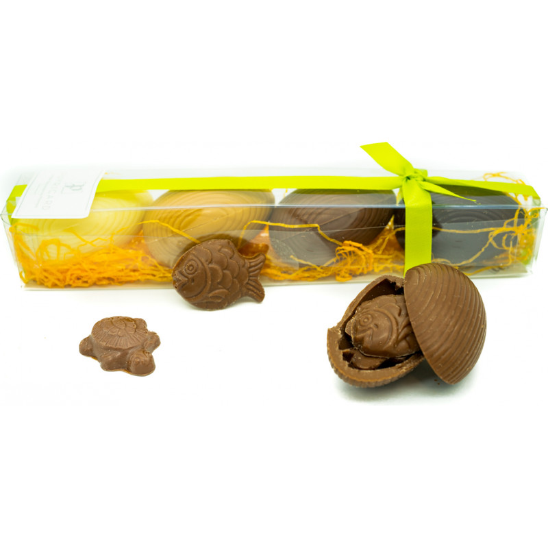 Réglette 4 Oeufs Chocolat Garnis 100g