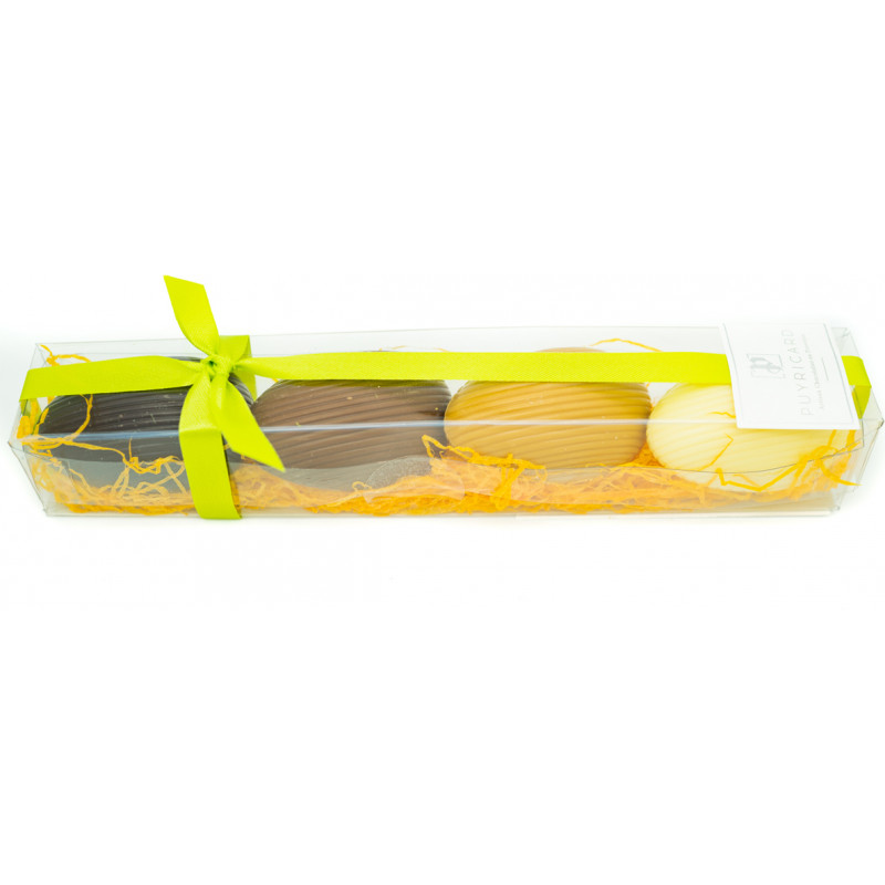 Réglette 4 Oeufs Chocolat Garnis