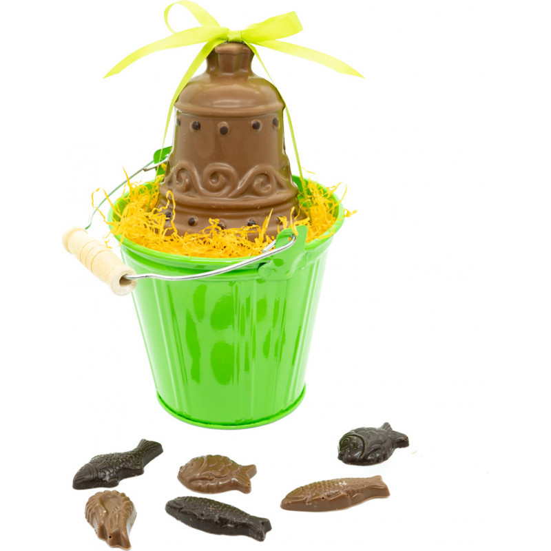Easter bell in a bucket 8cm
