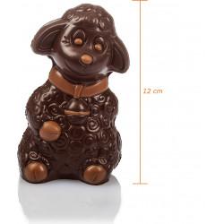 Agnel en chocolat de Pâques garni 12cm