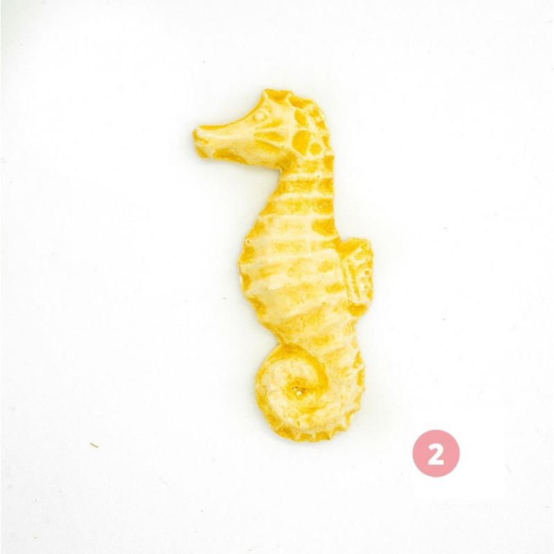 Figurine hippocampe jaune