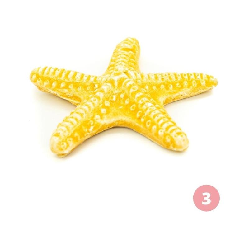Yellow starfish figurine