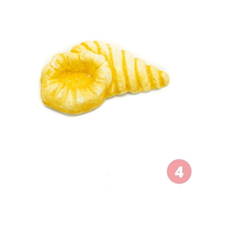 Yellow shell figurine