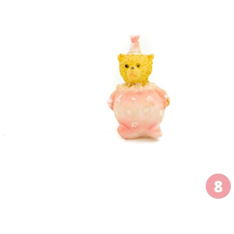 Pink bear figurine