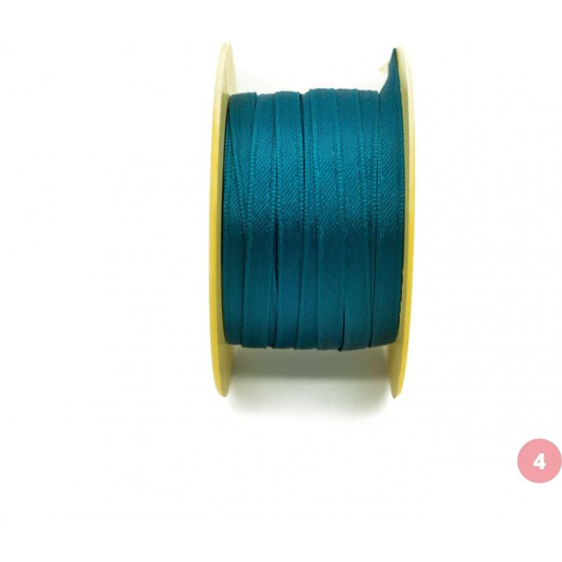 Petrol blue satin ribbon
