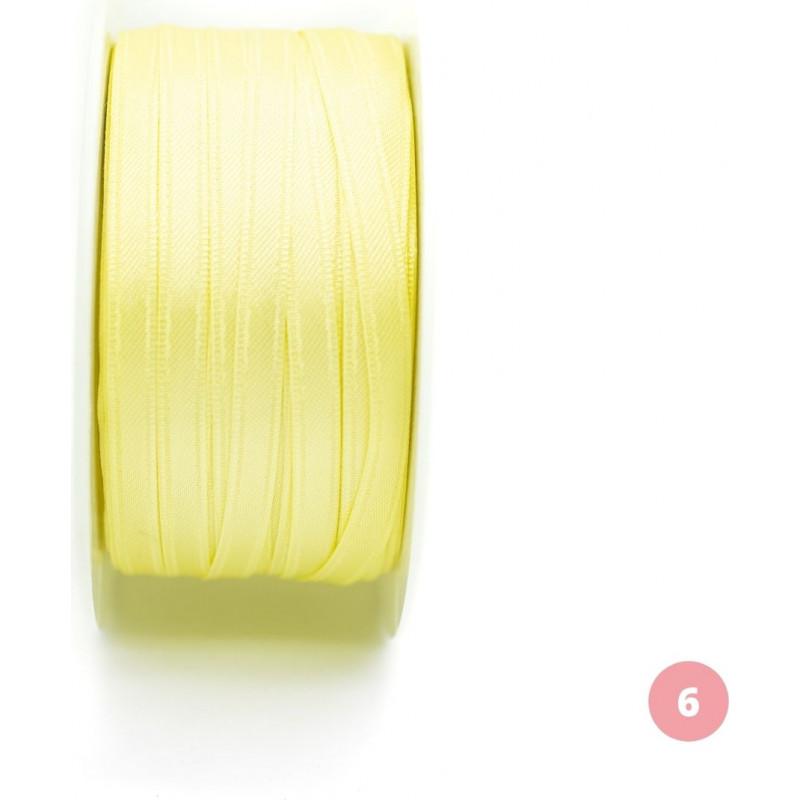 Light yellow satin ribbon
