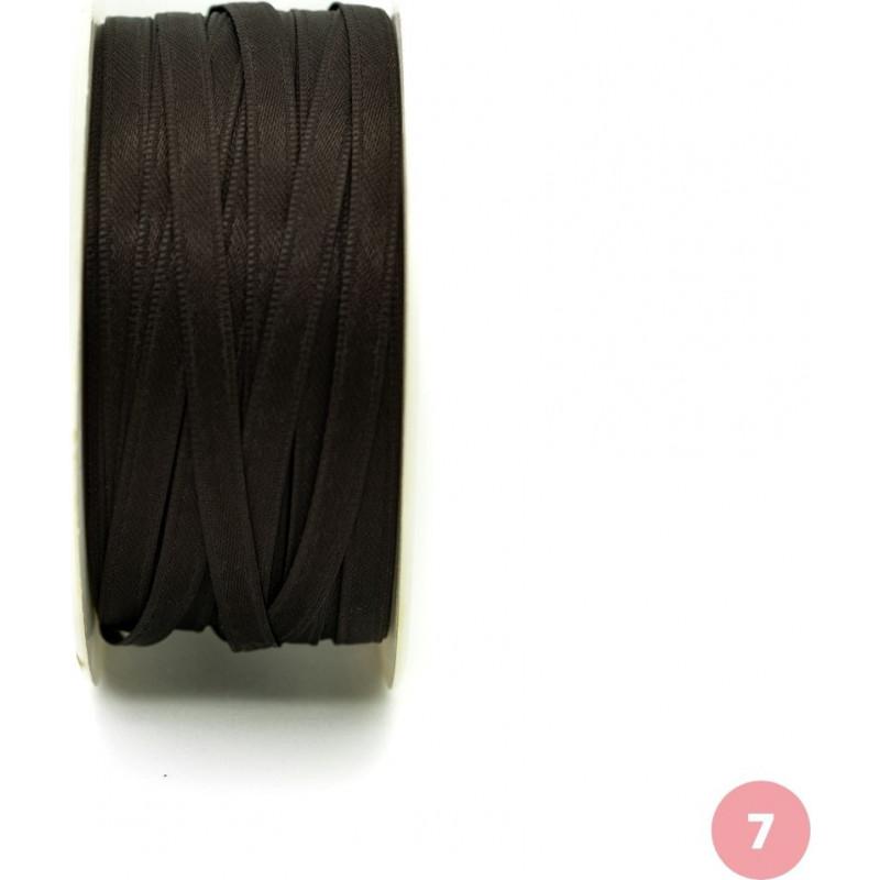 Dark brown satin ribbon